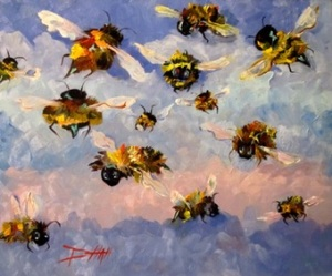 Fuzzy Buzzy Bees by Delilah Smith